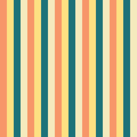Vertical stripes Yellow teal blue peach pattern. Vertical striped seamless vector background. Great for Easter, spring, fabric, packaging, paper projects. Coordinate pattern for my Easter collection Illustration