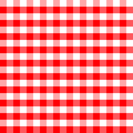 Red and white plaids seamless pattern. Checkered seamless vector pattern. Great for backgrounds, fabric, packaging, and all kind of paper projects. Easter background. Illustration