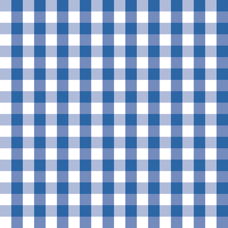 Blue and white plaids seamless pattern. Checkered seamless vector pattern. Great for backgrounds, fabric, packaging, and all kind of paper projects. Simple background