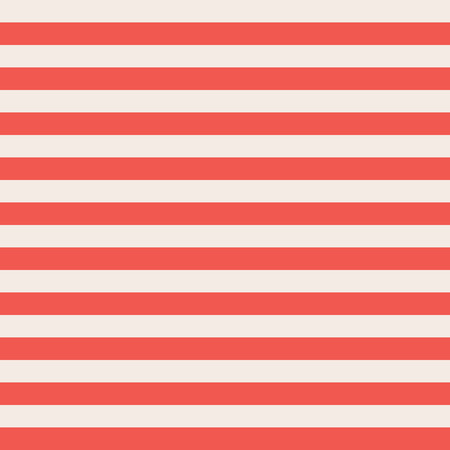 Red and beige horizontal stripes seamless vector background. Seamless surface pattern vintage colors. Striped texture. Use for banners, cards, fabric, coordinate, decor