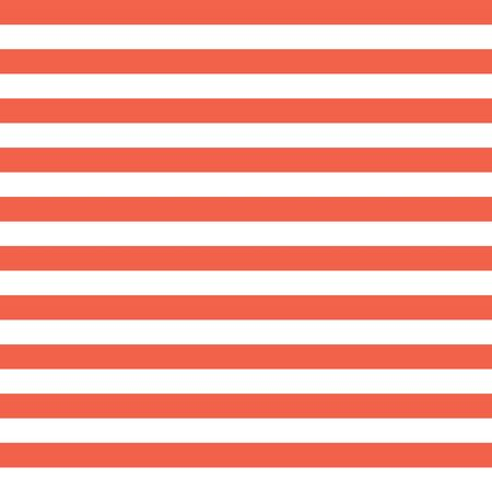 Horizontal red and white stripes seamless vector background. Simple geometric pattern texture and coordinate