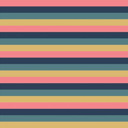 Horizontal pink blue gold yellow stripes seamless vector background