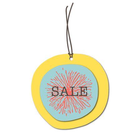 Paper sales tag colorful design vector illustration. Label Фото со стока - 129259829