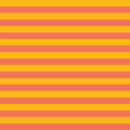 Horizontal orange gold yellow stripes seamless vector background. Simple geometric pattern texture and coordinate. Fall Autumn colors Çizim