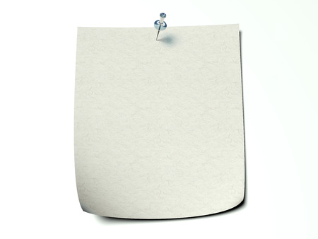 handwrite: Note Paper wall pin fixed - white background - recycled textured paper