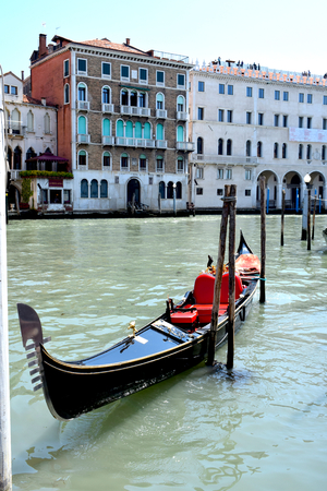 The Grand Canal, Venice, Italy with Gondolas
