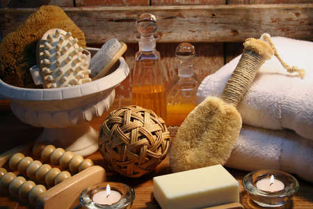 Essentials products for spa therapy