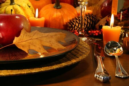 thanksgiving dinner: Details for a Thanksgiving table