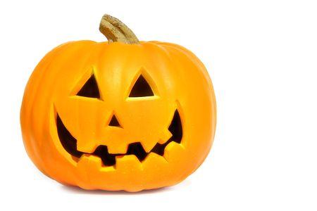 phrases: Calabaza de Halloween con frases sobre fondo blanco