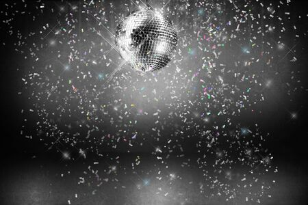 Disco ball with lights and confetti party background Stock fotó - 3733842
