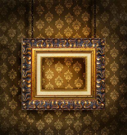 지저분한 골동품 벽지 배경 스톡 콘텐츠 - 3733858