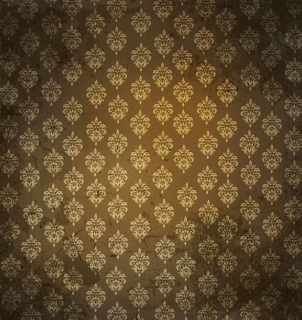 Grungy antique wallpaper background Stock Photo - 3733947