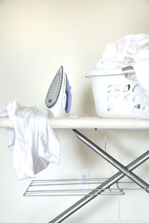 Still life of laundry on ironing board  photo