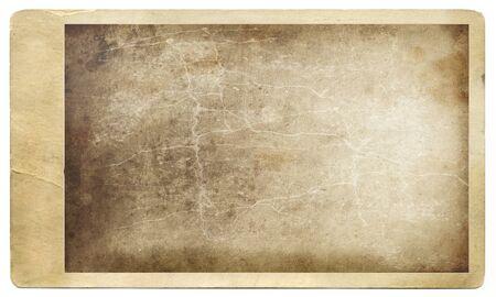 bordure vieille photo: Vieille photo grungy sur un fond blanc