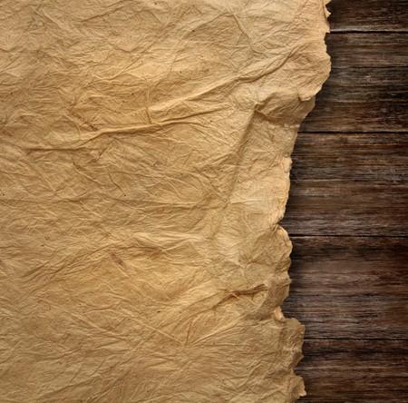 wrinkled paper: Close-up van gerimpelde Perkamentpapier