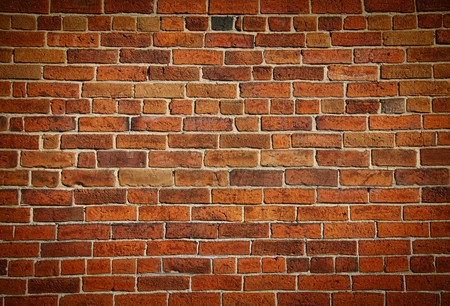 Weathered stained old brick wall background Stock Photo - 8163280