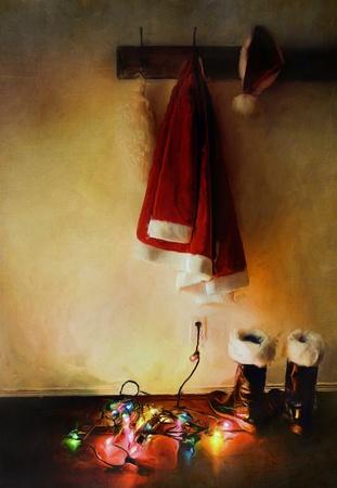 Digital painting of santa costume with lights on floor Stock Photo - 11453411
