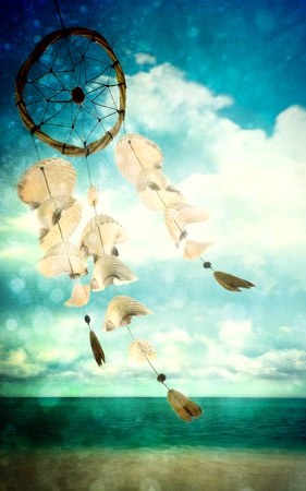 dreamcatcher: Shells blowing in the wind at sea shore