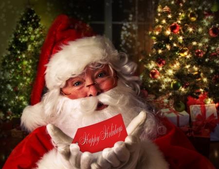 산타 클로스: 축제 휴가 배경과 산타 클로스