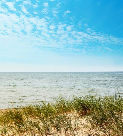 Closeup of sandy dunes on Lake Superior 免版税图像