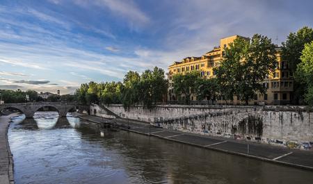 insular: Bridge over the Tiber Tiber Island Editorial