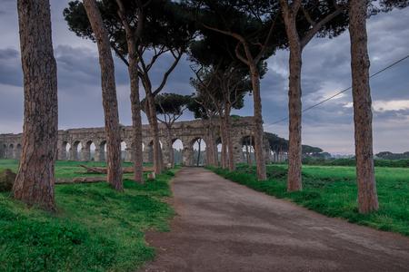 illustrious: Aqueducts Park Avenue Rome Stock Photo