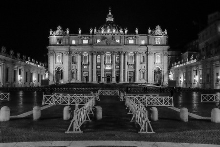 illustrious: Basilica St. Peter Black and Withe