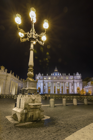 st  peter s square: Italy, Rome, Piazza San Pietro - It was 17102013 in Rome and this is a shot session taked in the night with long time exposure.