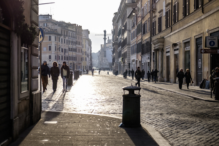street shot: Italy, Rome, Piazza di Spagna, 13122015, a street shot during a morning promenade
