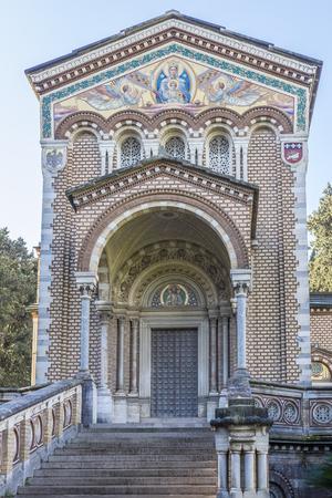 dora: Italy, Rome, Villa Dora Pamphili - 06 March 2016: The chapel was built between 1896 and 1902 by the Pamphili family