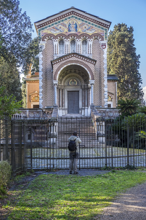 pino: Italy, Rome, Villa Dora Pamphili - 06 March 2016: The chapel was built between 1896 and 1902 by the Pamphili family