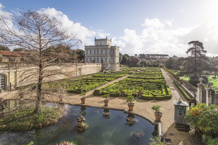 regina: Italy, Rome, Villa Dora Pamphili - 06 March 2016: Villa Pamphili and its secret gardens. It is definitely one of the most picturesque parts of the park