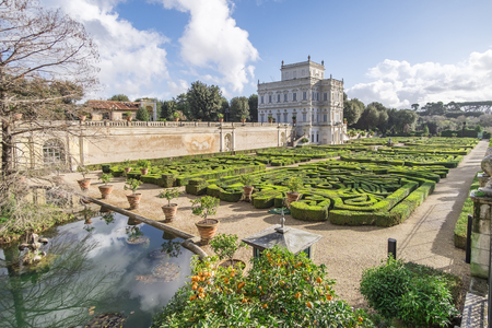 dora: Italy, Rome, Villa Dora Pamphili - 06 March 2016: Villa Pamphili and its secret gardens. It is definitely one of the most picturesque parts of the park