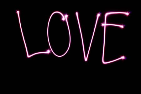 light painting: Inscription Love, made with light painting