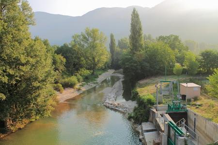 hydro power: Hydro power plant in Borgo Tufico, Italy
