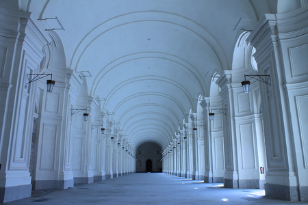 kingly: Hallway of the Palace Venaria Reale in Italy Editorial