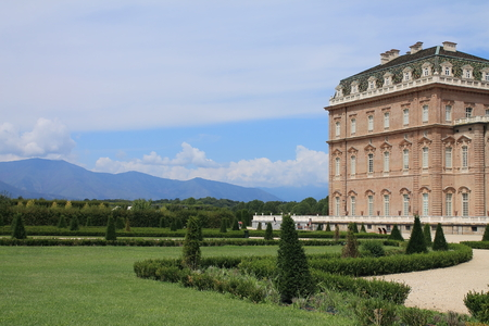 kingly: Gardens of the palace Venaria Reale in Italy