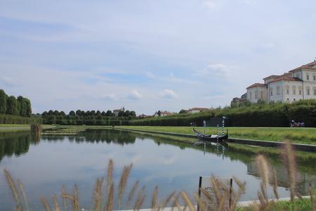 kingly: Gondola on the artificial lake of Venaria Reale, Italy