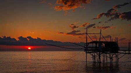 Trabocchi Coast, San Vito Chietino, Abruzzo, Italy Banco de Imagens