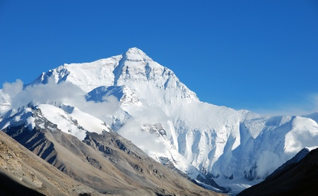 High peak of Mount Everest photo