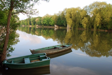 Boats at the Loiret in France