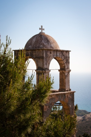 Bell tower at Kos Stock Photo