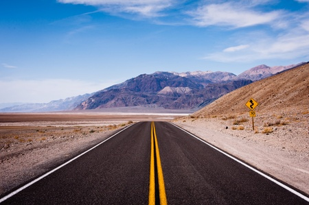 Black road in Death Valley National Park