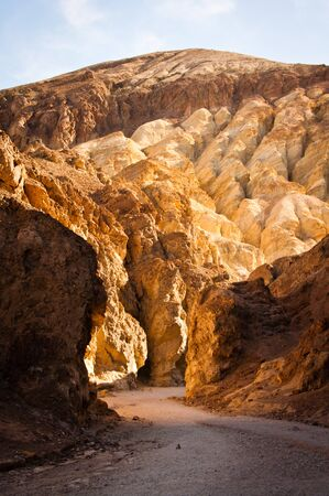 Golden Canyon in Death Valley National Park Stock Photo