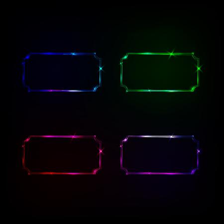 neon frame