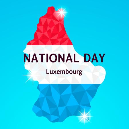 vectorillustratie, nationale feestdag in Luxemburg, rood, wit blauwe driehoekjes