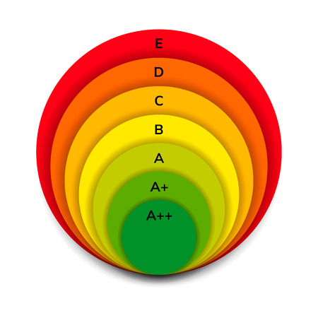 low energy: vector illustration. round energy efficiency rating.