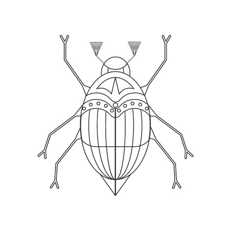 Coloring book for children. vector illustration of the may bug, chafer