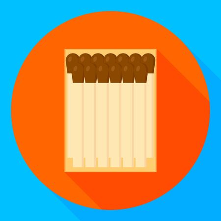 vector illustration. matches. flat round icon with shadow