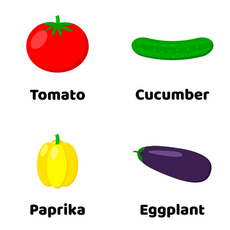 Set of vegetable icon illustration.
